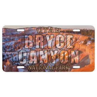 Bryce Schlucht-Nationalpark-Kfz-Kennzeichen US Nummernschild