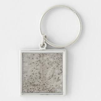 Bubaste, Salheih, Ägypten Silberfarbener Quadratischer Schlüsselanhänger