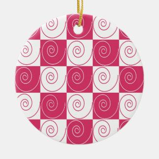 Bubblegum rosa Mousey Schwänze Keramik Ornament