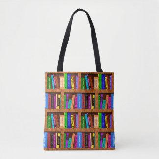 Buch-Bibliotheks-Bücherregal-Muster für Leser Tasche