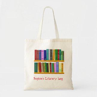 Buch-Bibliotheksnamenstasche des Kindes niedliche Tragetasche
