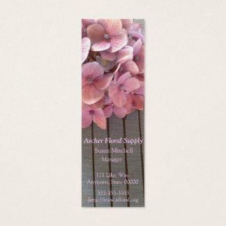 Buch-Lesezeichen-Geschäftskarte der Hydrangeas Mini-Visitenkarten