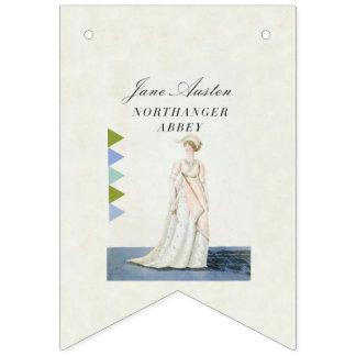 Buch-Party-Flagge Janes Austen populäre Wimpelketten