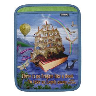 Buch-Schiffs-Ozean-Szene mit Emily Dickinson-Zitat Sleeves Für iPads