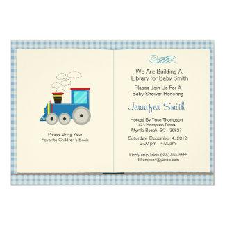 Buch-Thema-Babyparty-Einladung 12,7 X 17,8 Cm Einladungskarte