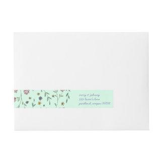 Buch-u. Blüten-Adressen-Etiketten Adressband