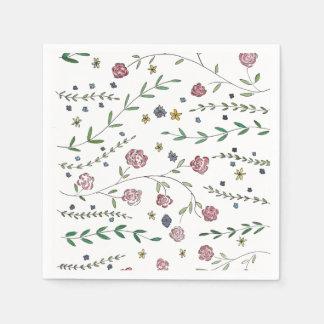 Buch-u. Blüten-Cocktail-Servietten Servietten