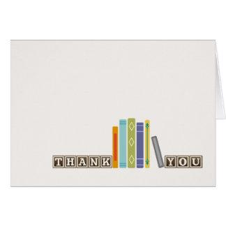 Buch-Unisexthemenorientiertes danken Ihnen zu Karte