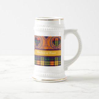 Buchanan-Clan karierter schottischer Tartan Bierglas