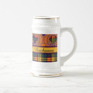 Buchanan-Familienclan karierter schottischer Kilt Bierglas