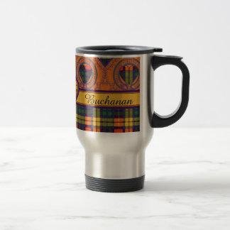 Buchanan-Familienclan karierter schottischer Kilt Reisebecher