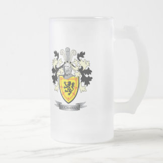 Buchanan-Familienwappen-Wappen Mattglas Bierglas