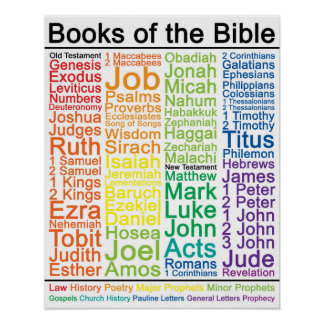 Bücher des Plakats der Bibel-16x20 - katholische Poster