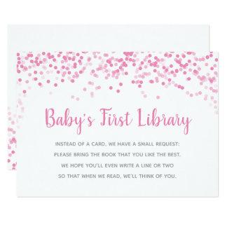 Bücher für Babyparty-Rosaconfetti-Duschen-Karte Karte