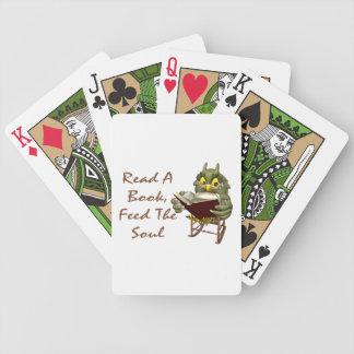 Bücher füttern dem Soul kluge Eule Bicycle Spielkarten