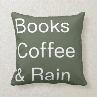 Bücher Kaffee u. Regen Kissen