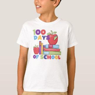 Bücher und Äpfel 100 Tage Schult-shirts T-Shirt