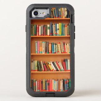 Bücherregal bucht Bibliotheks-Bücherwurm-Lesung OtterBox Defender iPhone 7 Hülle