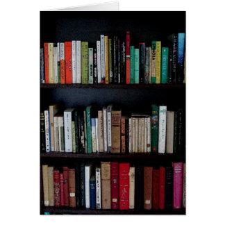Bücherschrank und Bücher Karte