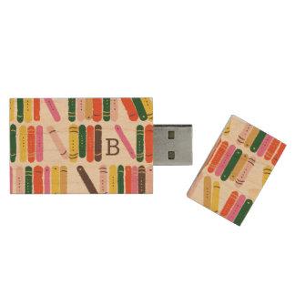 Bücherwurm Holz USB Stick 3.0