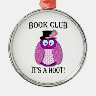 Buchgemeinschaft - es ist ein Schrei - rosa Silbernes Ornament