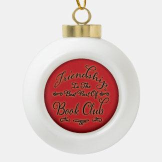 Buchgemeinschaft-Freundschafts-Verzierung Keramik Kugel-Ornament
