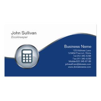 Buchhalter-Visitenkarte-Taschenrechner-Ikone