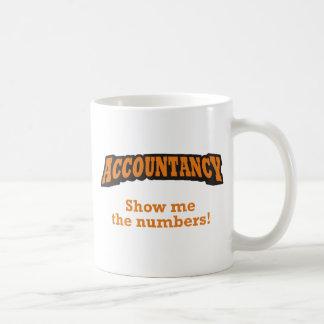 Buchhaltung - zeigen Sie mir die Zahlen! Kaffeetasse