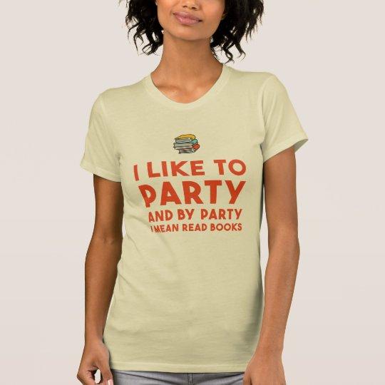 Buchliebhaberlesung, die ich zum lustigen Shirt