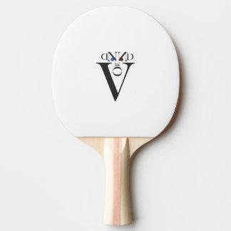 Buchstabe-Gesichts-Klingeln Pong Paddel Tischtennis Schläger