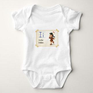Buchstabe I Baby Strampler