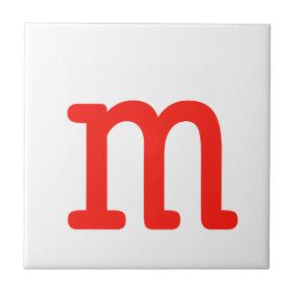 Buchstabe M Kleine Quadratische Fliese