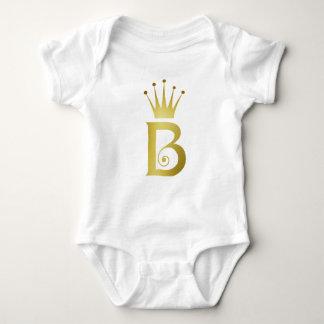 Buchstabe-Monogramm-Baby-Bodysuit der Baby Strampler