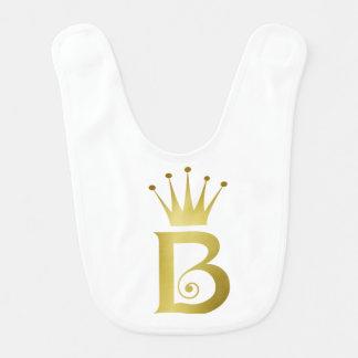 Buchstabe-Monogramm-Baby-Schellfisch-Geschenk der Babylätzchen