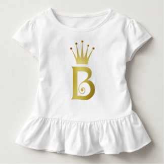 Buchstabe-Monogramm-Baby-Spitze der Kleinkind T-shirt