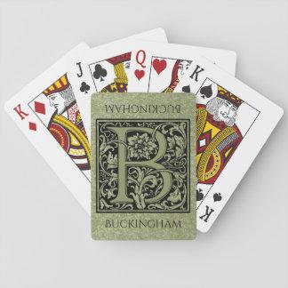Buchstabe-Monogramm des Buchstabe-B erstes Spielkarten