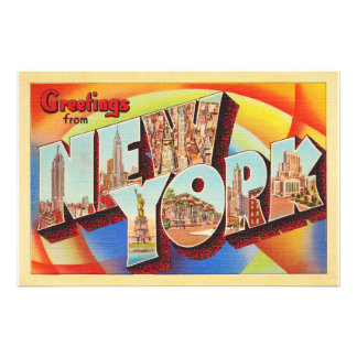 Buchstabe-Reise-Postkarte New York City #2 NY Fotodruck