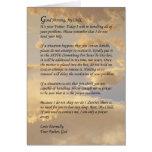 Buchstabe vom Gott Grußkarte