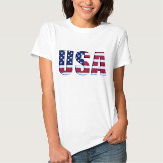 Buchstaben USA-Flaggen-3D Tshirt