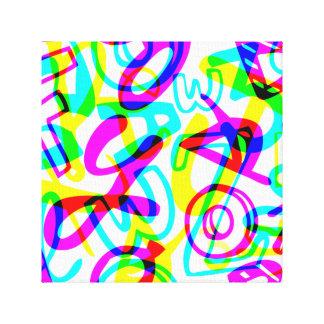 Buchstaben + Zahlen Leinwanddruck