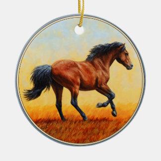 Bucht-Pferdegaloppieren Keramik Ornament