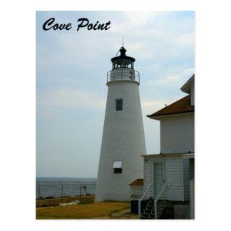 Bucht-Punkt-Leuchtturm Postkarte
