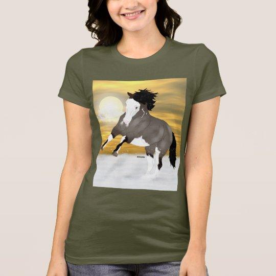 Bucht Roan Overo Pinto-Mustang-Pferd T-Shirt