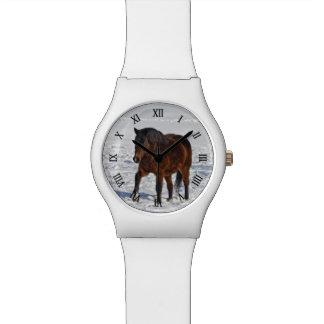 """Bucht-Winter-Pferd """"Jahr des Pferd"""" pferdeartiges Armbanduhr"""