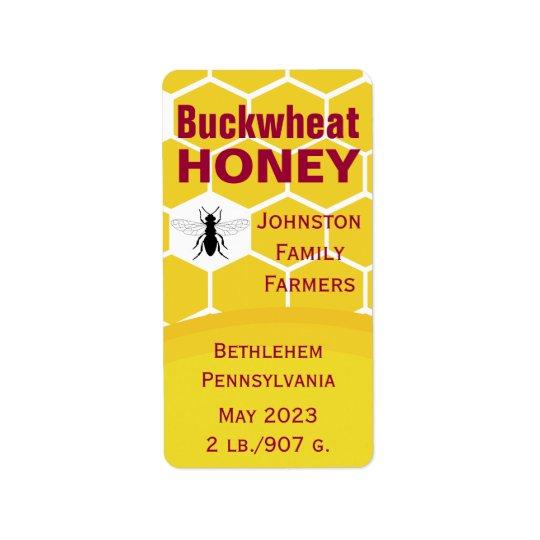 Buchweizen-Bienenwabe Adressaufkleber