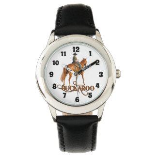 Buckaroo-kleines Cowboy-Western-Thema für Jungen Uhr