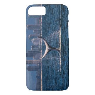 Buckel-Wal-Schwanz-Plattfisch-Anzeige iPhone 8/7 Hülle
