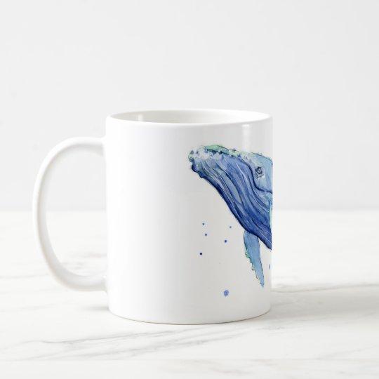 Buckel-Walwatercolor-Malerei-Keramik-Tasse Kaffeetasse