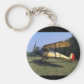Bucker, Jungmann, 1961, St_Classic Luftfahrt Standard Runder Schlüsselanhänger