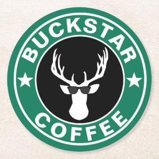 BUCKSTAR Kaffee Runder Pappuntersetzer